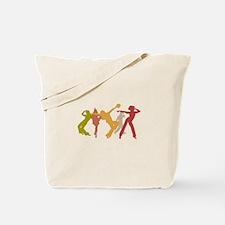 Colorful Jazz Dancers Tote Bag