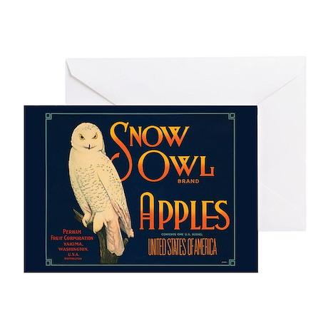 Snow Owl Single 5x7 Greeting Card