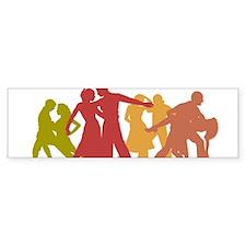 Colorful Latin Dancers Bumper Bumper Sticker