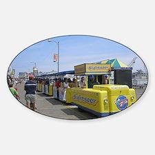 Watch the Tram Car  Sticker (Oval)