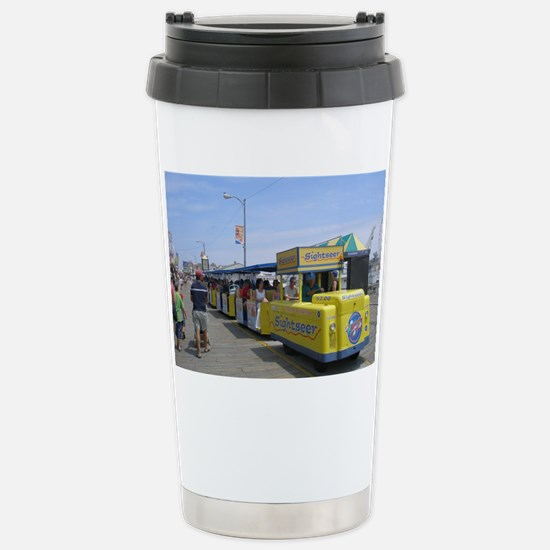 Watch the Tram Car  Stainless Steel Travel Mug
