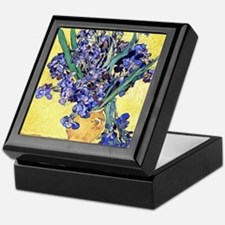 Van Gogh Iris Vase Keepsake Box