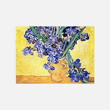 Van Gogh Iris Vase 5'x7'Area Rug