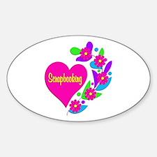 Scrapbooking Heart Decal