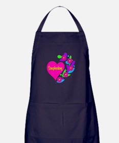 Scrapbooking Heart Apron (dark)