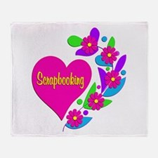 Scrapbooking Heart Throw Blanket