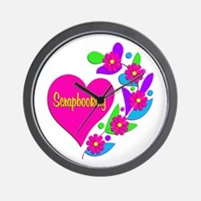 Scrapbooking Heart Wall Clock