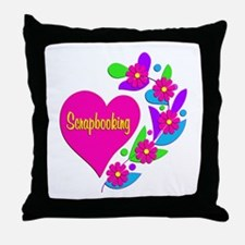 Scrapbooking Heart Throw Pillow