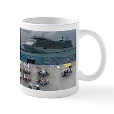 Cruise ship cruising Mugs