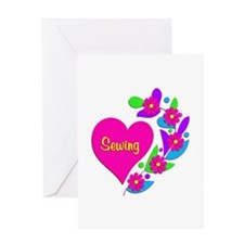 Sewing Heart Greeting Card