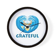 GratefulLogo1 Wall Clock