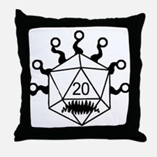 Cute D20 Throw Pillow