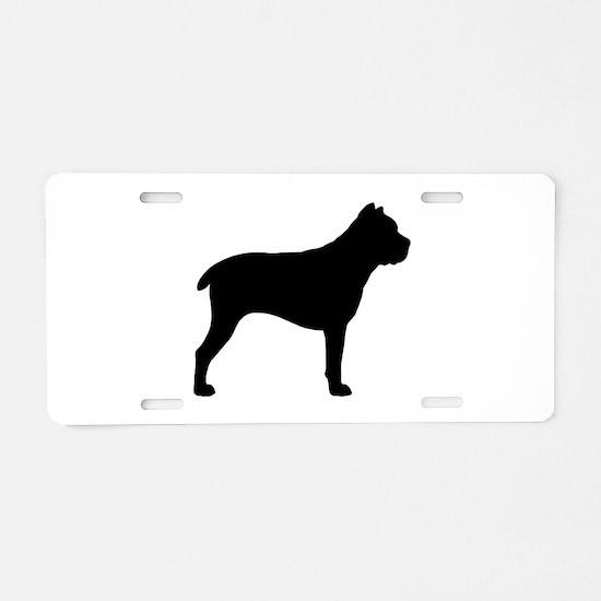 Cane Corso Aluminum License Plate