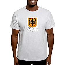 Kraut with Crest  Ash Grey T-Shirt