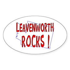 Leavenworth Rocks ! Oval Decal