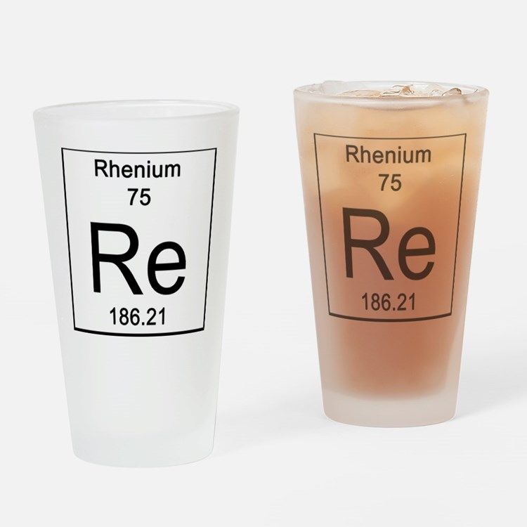75. Rhenium Drinking Glass