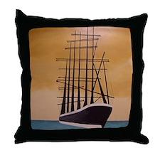 Cute Sailing ships artwork Throw Pillow