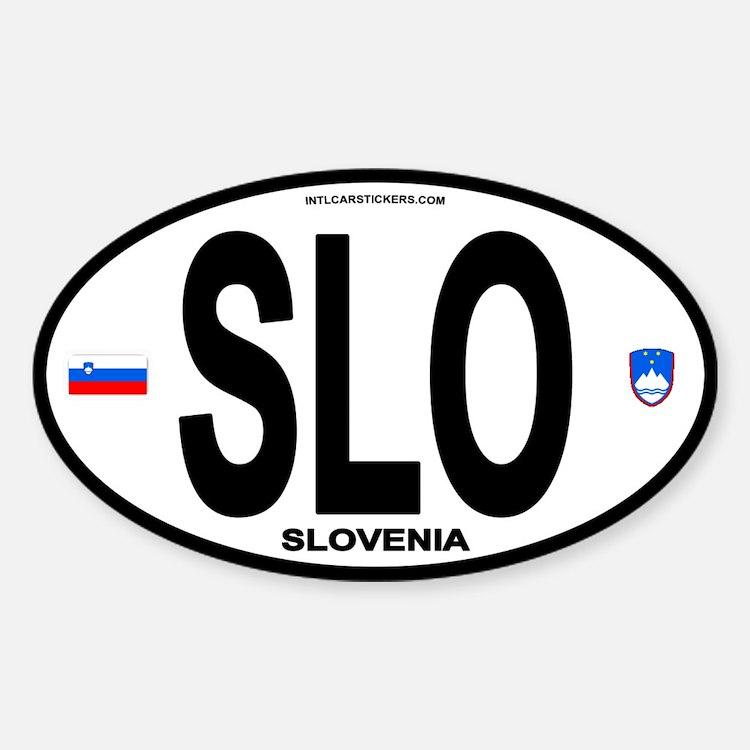 Slovenia Euro-style Code Oval Decal
