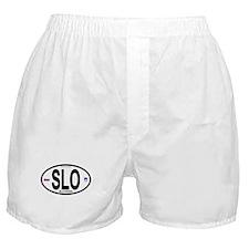 Slovenia Euro-style Code Boxer Shorts