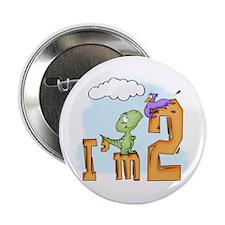 """Dinosaur Fun 2nd Birthday 2.25"""" Button (10 pack)"""