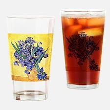 Van Gogh Iris Vase Drinking Glass