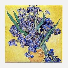 Van Gogh Iris Vase Tile Coaster
