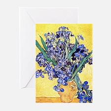 Van Gogh Iris Vase Greeting Cards