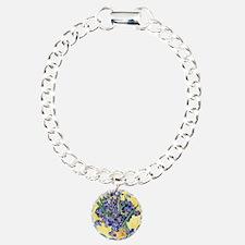 Van Gogh Iris Vase Charm Bracelet, One Charm
