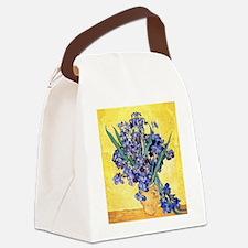 Van Gogh Iris Vase Canvas Lunch Bag