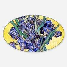 Van Gogh Iris Vase Decal