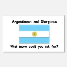 Argentinean and Gorgeous Rectangle Decal