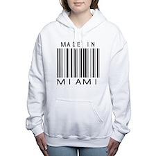 Miami barcode Women's Hooded Sweatshirt