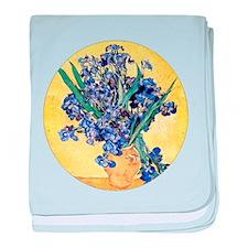 Van Gogh Iris Vase baby blanket
