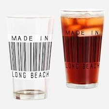 Long Beach barcode Drinking Glass