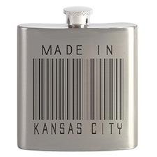 Kansas City barcode Flask