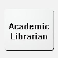Academic Librarian Retro Digital Job Des Mousepad