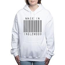 Inglewood barcode Women's Hooded Sweatshirt
