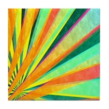 HERE COMES THE SUN Tile Coaster