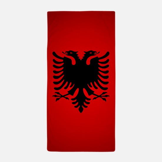 Albania v1 Beach Towel