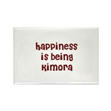 happiness is being Kimora Rectangle Magnet