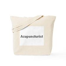 Acupuncturist Retro Digital Job Design Tote Bag