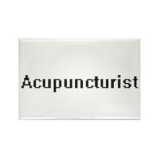 Acupuncturist Retro Digital Job Design Magnets