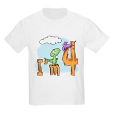 Dinosaur Fun 4th Birthday T-Shirt
