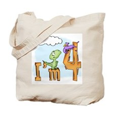 Dinosaur Fun 4th Birthday Tote Bag