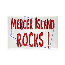 Mercer Island Rocks ! Rectangle Magnet