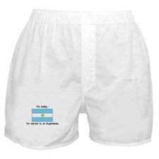 Married to an Argentinean Boxer Shorts