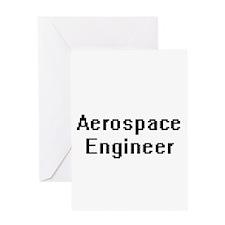 Aerospace Engineer Retro Digital Jo Greeting Cards