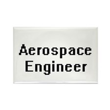 Aerospace Engineer Retro Digital Job Desig Magnets