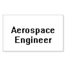 Aerospace Engineer Retro Digital Job Desig Decal