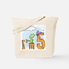 Dinosaur Fun 5th Birthday Tote Bag
